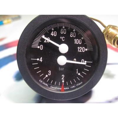 Termomanometr černý DAKON DOR45D, FB , VIADRUS