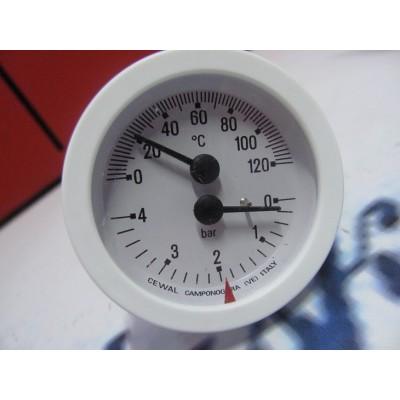 Termomanometr  4bar bílý DAKON P-lux, GL, PTE DALINE