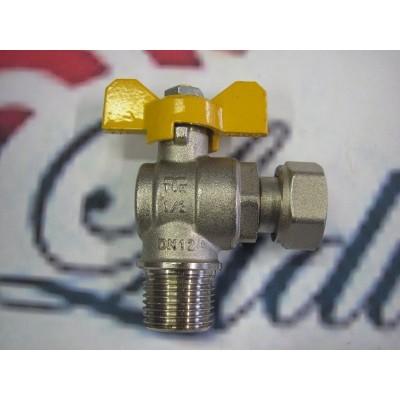 """Kulový ventil 1/2"""" rohový vnější/vnější plynový"""