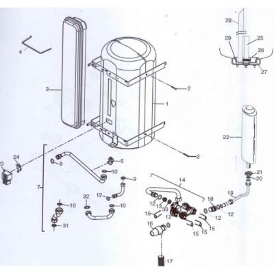 Nádoba expanzní 7,5l  DAKON DAGAS 02/03 B , Junkers Bosch