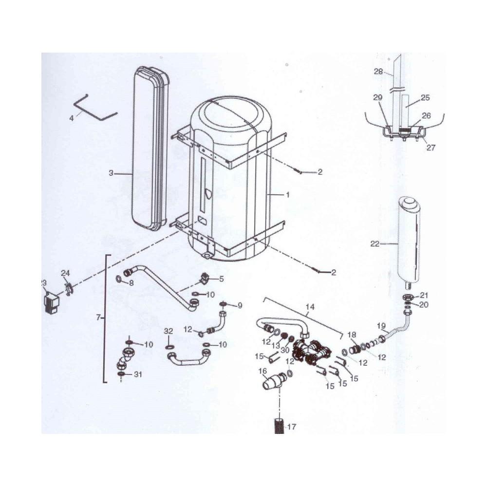 Nádoba expanzní 2l pro TUV s příslušenstvím DAKON DAGAS 02/03 B