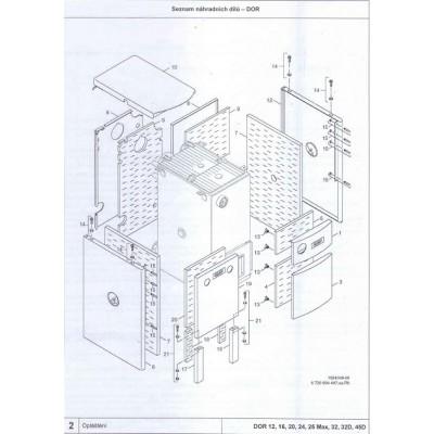 Izolace předního panelu DOR 20-32 D