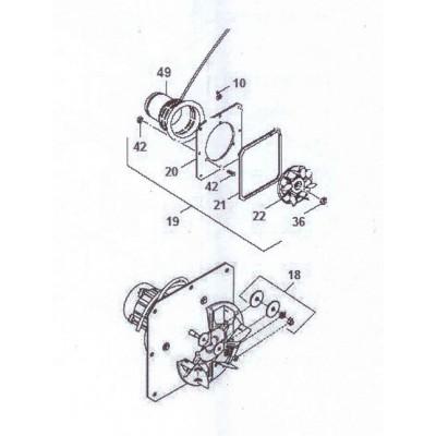 Sada šroubů držáku příruby ventilátoru DAKON DAMAT Pyro G