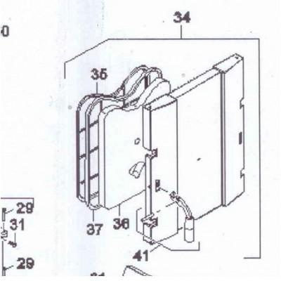 Šňůra těsnící přikládacích dveří DAKON FB2 , FB2 AUTOMAT