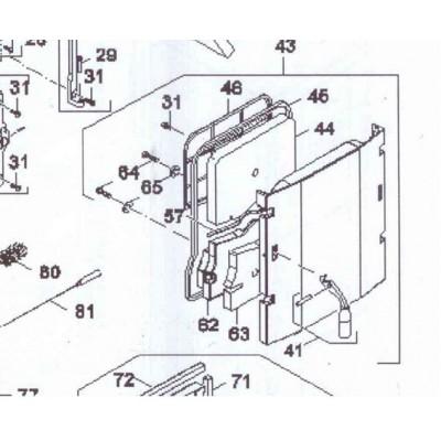 Kryt izolace dveří popelové komory DAKON FB 2 , FB 2 AUTOMAT
