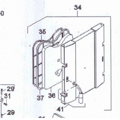 Izolace dveří přikládací  komory DAKON FB 2 , FB2 AUTOMAT
