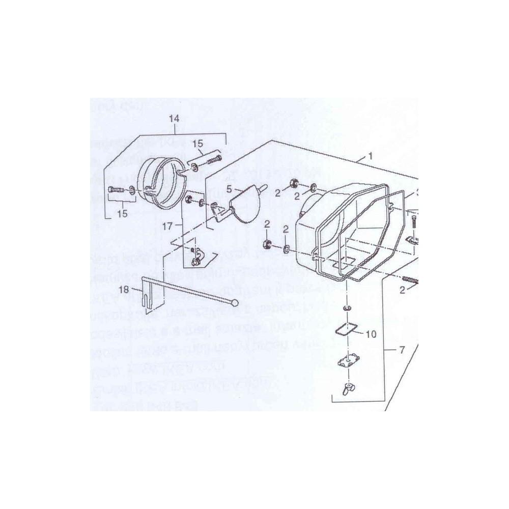 Tyč klapky nastříkaná s koulí DAKON FB 36