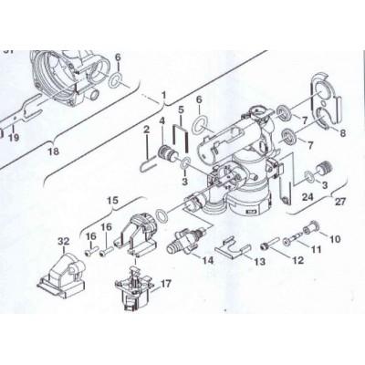 Motor trojcestného ventilu DAKON DAGAS  KZ  24 C, JUNKERS CerapurSmart