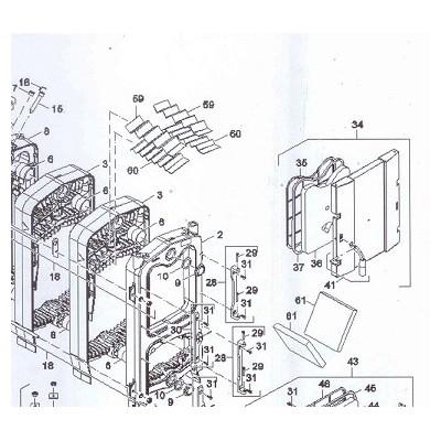 Desky na rošt 4 čl.  DAKON FB2 25 AUTOMAT    Buderus G221A