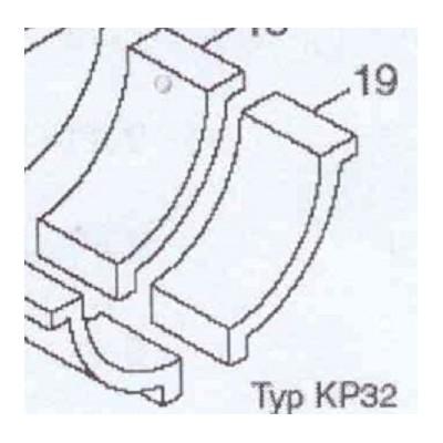 Cihla bok komory L-160mm KP 32