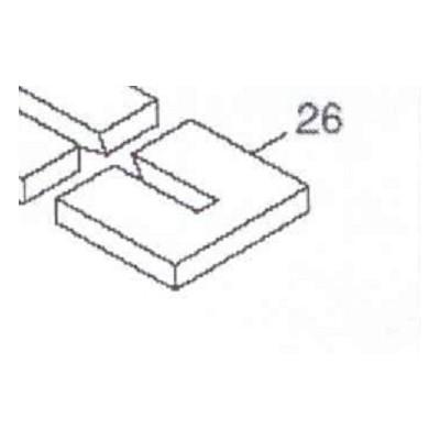 Cihla deska plochá L-255mm KP