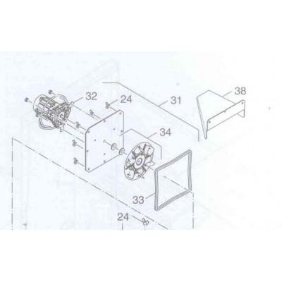 Těsnění příruby ventilátoru 8 x 8 x 845 DAKON KP Pyro , KP Pyro F, DAMAT , BUDERUS