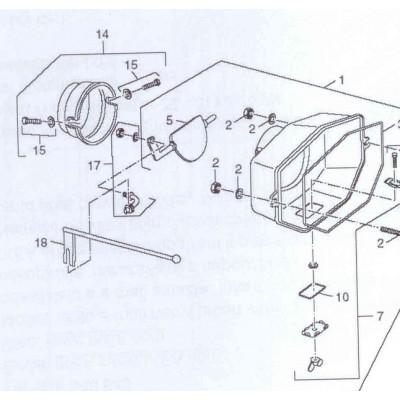 Šroub M10x35 kouřovodu FB