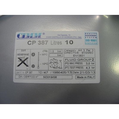 Expanzní nádoba 10 lt.  CIMM   CP 387