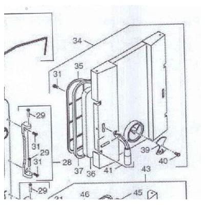 Dveře přikládací komory DAKON FB2