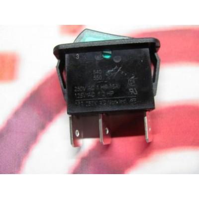 Vypínač zelený prosvětlený DAKON KP Pyro  , DAMAT   BUDERUS S121