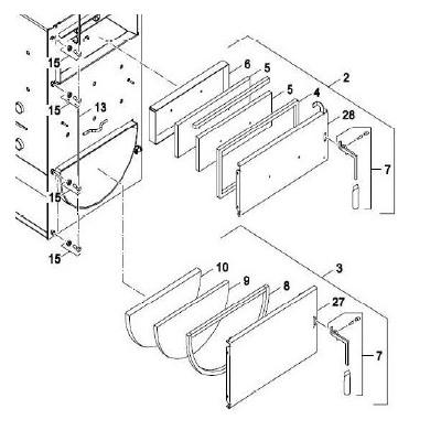 Izolace dveří spalovací komory 1 NP Pyro 22-30 kW pozice 9