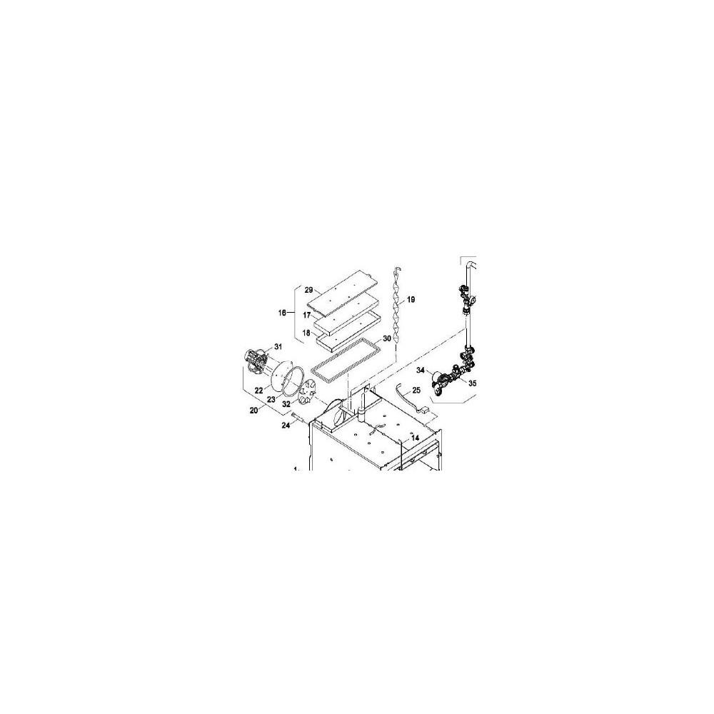 Izolace čistících dvířek NP Pyro 40-50 kW pozice 17