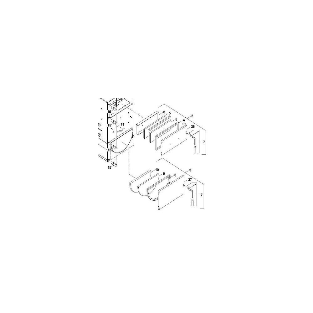 Těsnící šnůra spalovacích dvířek 22-30 kW  DAKON NP PYRO pozice 8