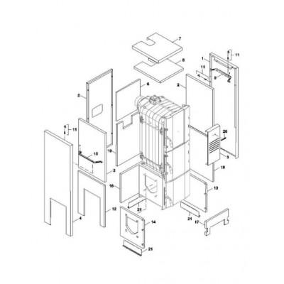 Izolace vnitřní boční boxu  6čl. FB2 AUTOMAT