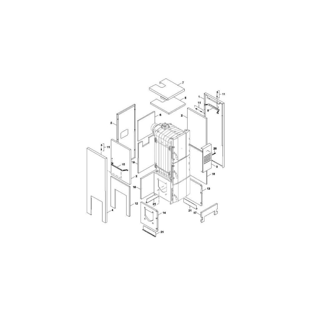 Izolace vnitřní boční boxu  6čl. FB2 30 AUTOMAT