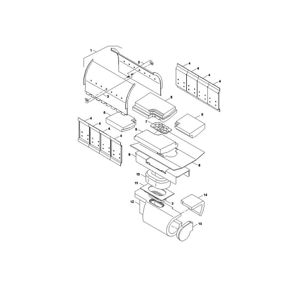 Víko komory spalovací NP2 18-24 kW  SP Pyro