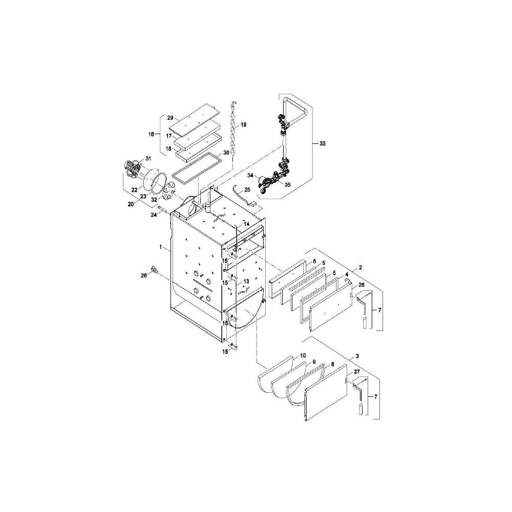 Těsnící šnůra přikládacích dveří 40-50 kW DAKON NP Pyro