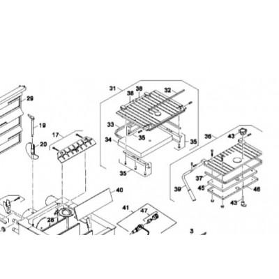 Izolace přikládacích dvířek DAKON DOR 4F 14 kW