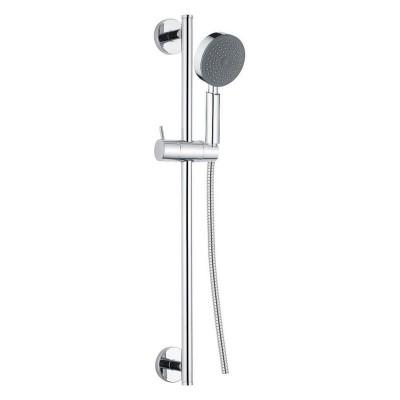 Sprchová souprava, jednopolohová sprcha, dvouzámková nerez hadice, stavitelný držák, plast/chrom