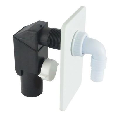 Pračkový sifon podomítkový ø 40 mm, bílý, plast