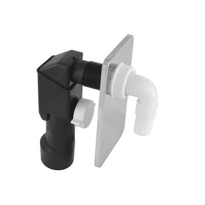Pračkový sifon podomítkový ø 40/50 mm, chromovaný plast