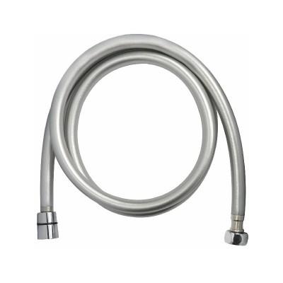Sprchová hadice šedostříbrná 150 cm, systém zabraňující překroucení