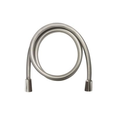 Sprchová hadice šedostříbrná 120 cm, systém zabraňující překroucení