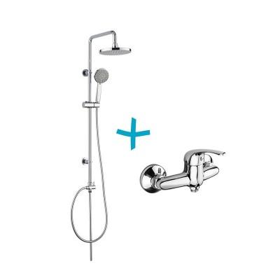 Sprchová souprava Lila - plastová hlavová sprcha a...