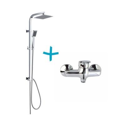 Sprchová souprava Sonáta - plastová hlavová sprcha a jednopolohováruční sprcha vč. sprchové baterie