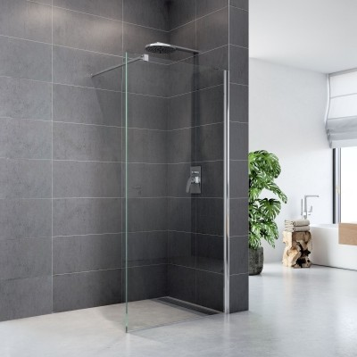 Sprchová stěna WALK IN, Fantasy, 90 x 200 cm, chrom ALU, sklo Čiré
