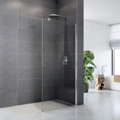 Sprchový stěna WALK IN, Fantasy 100 x 200 cm, chrom ALU, sklo Čiré