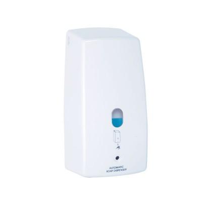 Dávkovač tekutého mýdla, automatický, napájení baterie AA, 650 ml, plast/bílá