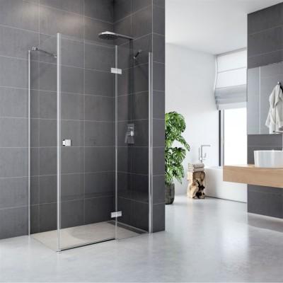 Sprchový kout, Fantasy, obdélník, 80x90 cm, chrom ALU,...