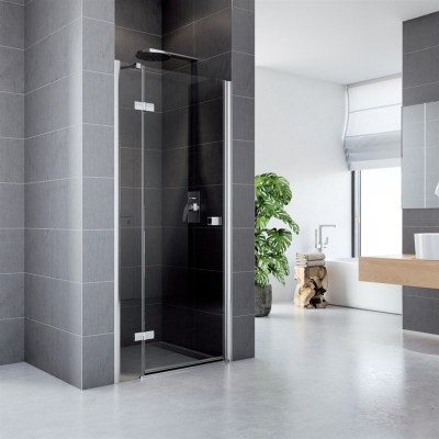 Sprchové dveře, Fantasy, 90 cm, chrom ALU, sklo Čiré, L/P...