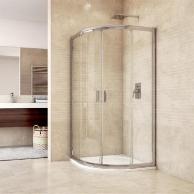 Sprchový kout, Mistica, čtvrtkruh, 80 cm, R550, chrom...