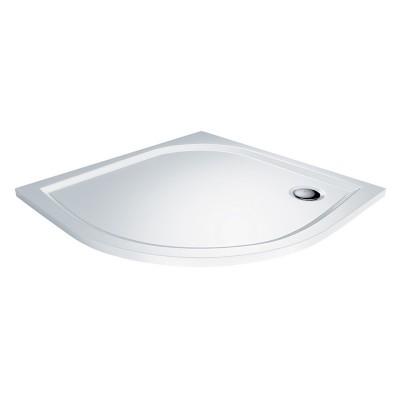 Čtvrtkruhová sprchová vanička, 90x90x3 cm, R500, bez...