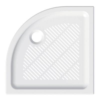Čtvrtkruhová sprchová vanička, 90x90x6,5 cm, R550, keramická