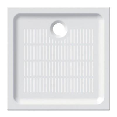 Čtvercová sprchová vanička, 90x90x6,5 cm, keramická