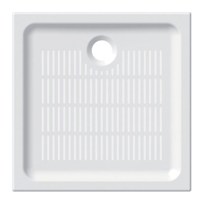 Čtvercová sprchová vanička, 80x80x6,5 cm, keramická