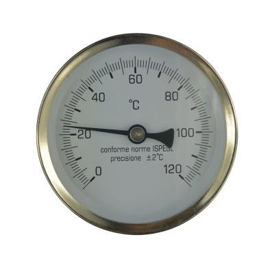 """Teploměr bimetalový DN 63, 0 - 120 °C, zadní vývod 1/2"""",..."""