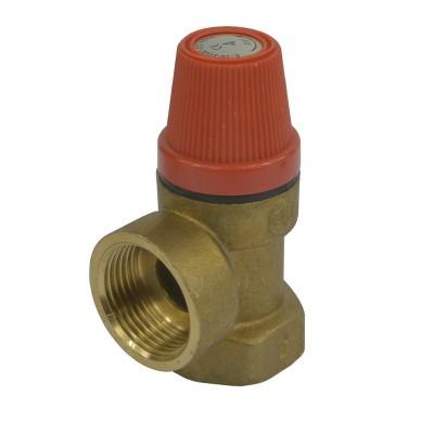 """Pojišťovací ventil pro bojler  6 bar, 1/2"""" s pevně..."""