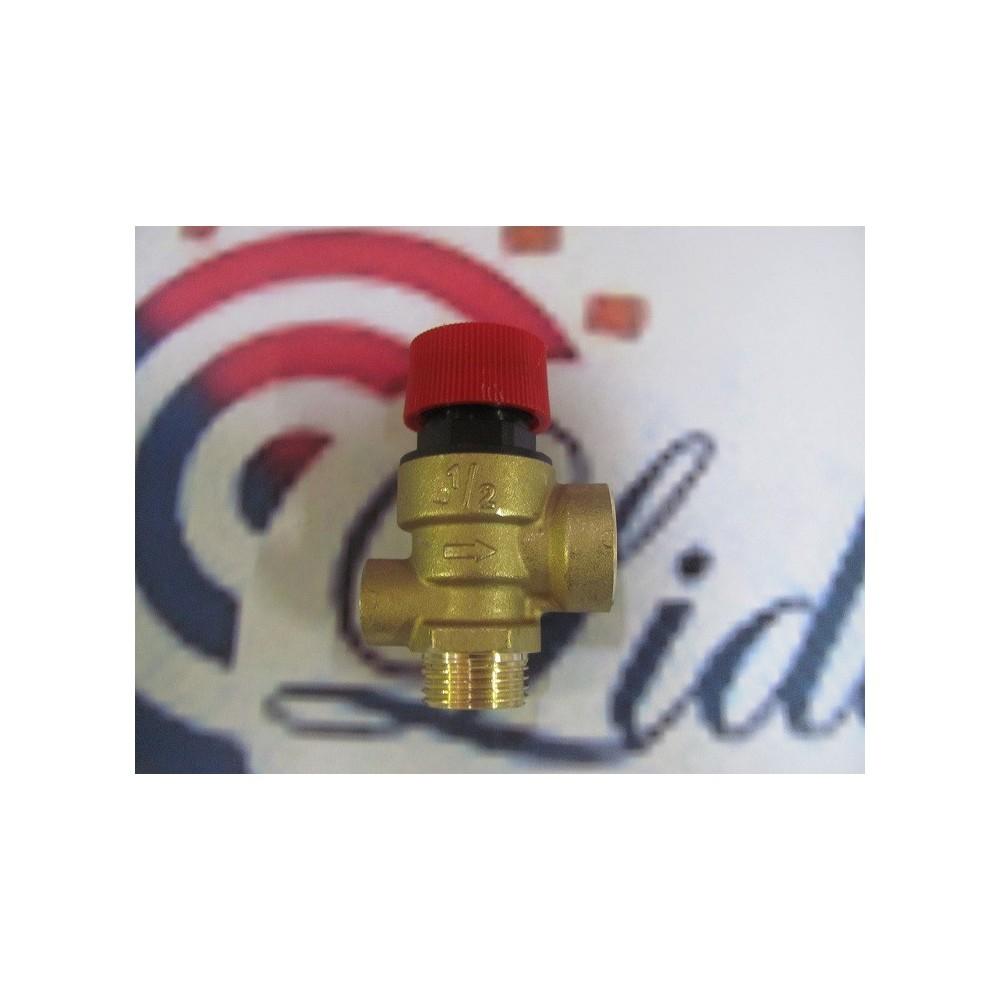 Ventil pojistný 3 bar s vývodem na tlakoměr DAKON KOMPAKT