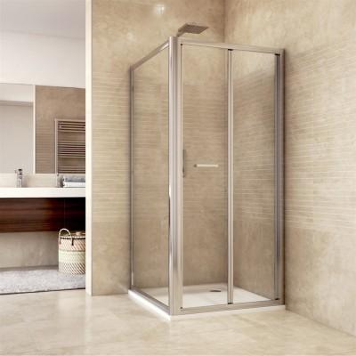 Sprchový kout, Mistica, čtverec, 80 cm, chrom ALU, sklo...