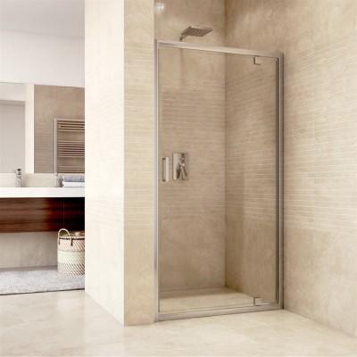 Sprchové dveře pivotové, Mistica, 80 cm, chrom ALU, sklo...